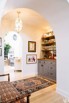 Pierce and Ward created archways throughout the house to soften the architecture of the home | archdigest.com