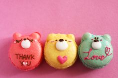 Bear shaped French macarons.