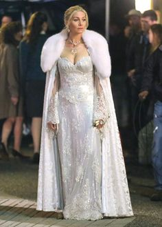 You guys do realize that Elizabeth Mitchell played in The Santa Claus 2 and 3 as Mrs. Claus. She lives in the North Pole, snow, ice!! And now she plays the Snow Queen in OUAT!!!! I am so happy that they got her to play the Snow Queen!!!