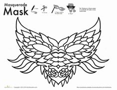 New Year First Grade Paper Projects Holiday Worksheets: Dragon Mask Coloring