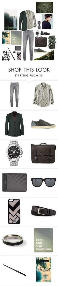 """""""Salazar Slytherin"""" by eleanorfinch ❤ liked on Polyvore featuring Scotch & Soda, Banana Republic, Burberry, Topman, TAG Heuer, Ally Capellino, Tumi, Orlebar Brown, Dolce&Gabbana and Neiman Marcus"""