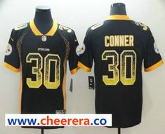 979c2bc2d Men s Pittsburgh Steelers  30 James Conner Black 2018 Fashion Drift Color  Rush Stitched NFL Nike Limited Jersey