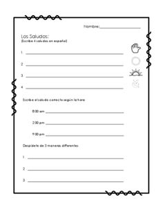 Printables Spanish Greetings Worksheets spanish greetings and farewells practice worksheet saludos y worksheets from funtastico materials on teachersnotebook com 2 pages