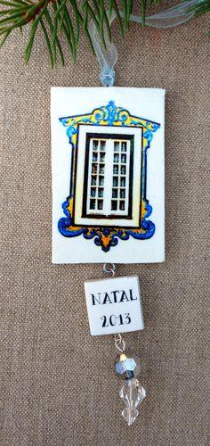 Portugal Antique Azulejo Tile Replica WINDOW Ornament by Atrio,