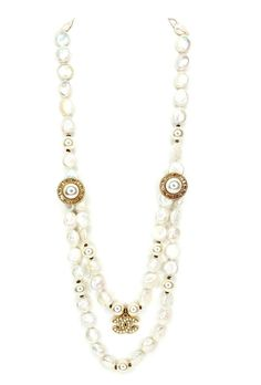 Strand Necklace, Pearl Necklace, Chanel Necklace, Pearl White, Retail, Buttons, Money, Pearls, Chain