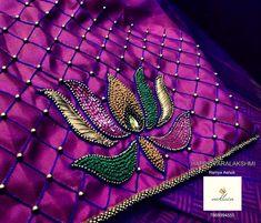 Saree Kuchu Designs, Saree Blouse Neck Designs, Bridal Blouse Designs, Patch Work Blouse Designs, Simple Blouse Designs, Aari Embroidery, Embroidery Works, Mehndi Designs For Girls, Hand Designs