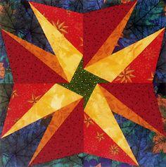 Thanksgiving Star quilt block