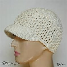 Image result for Free Crochet Pattern Brimmed Cap