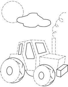 Actividades para niños preescolar, primaria e inicial. Fichas con ejercicios de grafomotricidad para niños de preescolar y primaria. Unir puntos y pintar. Grafomotricidad Unir puntos y pintar. 43