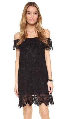 Nightcap x Carisa Rene Seashell Off Shoulder Dress