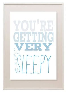 Sleepy Nursery Print by ThreadsForTuesday on Etsy