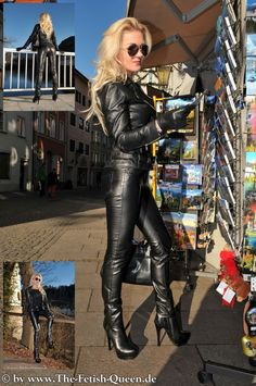 """Heike, the fetish queen "" Biker Leather, Leather Gloves, Leather And Lace, Black Leather, Patent Leather, Crazy Outfits, Sexy Outfits, Leder Outfits, Sexy Latex"