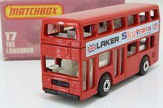 Matchbox/Lesney 17f; The Londoner Bus, Daimler Fleetline, Laker Skytrain, Boxed - http://www.matchbox-lesney.com/?p=6621
