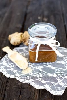 Gimme Some Oven | DIY Coconut Ginger Sugar Scrub | http://www.gimmesomeoven.com