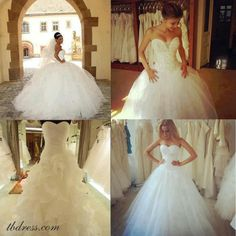 Princess wedding dress. LOVE the bottom right!!