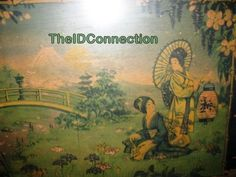 Vintage 1940's Oriental Serving Tray Retro by TheIDconnection, $65.00
