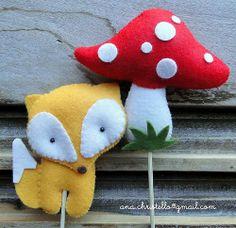 bichinhos da floresta - cupcake toppers