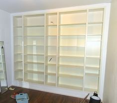 2x80x202 Billy bookcases, 3x40x202 Billy bookcases, matching Billy height extension unit