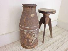 古いミルク缶L8アンティーク牛乳缶ガーデニング傘立 Antique milk tank ¥1000円 〆03月27日