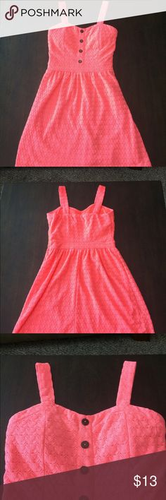 Charlotte Russe Summer Dress Good Condition. Coral Pink Colored. 100% Polyester. Charlotte Russe Dresses