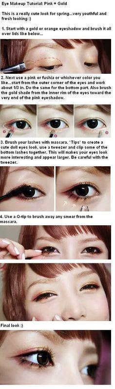 English translated Ulzzang Pony pink gold eye Korean makeup tutorial www.AsianSkincare.Rocks