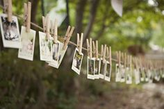 Polaroids of the wedding guests were taken and hung around the venue for everyone to see and enjoy