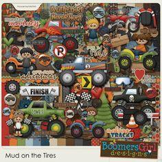 "BoomersGirl Designs: ""Mud on the Tires"" Digital Kit"