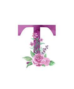 Monograma T acompañado de un precioso ramo de rosas rosas. diseño perfecto del monograma en las camisas, la ropa, las etiquetas engomadas, las cubiertas del teléfono, las tazas, los momentos y los regalos para la familia, los amigos y amados especialmente señoras, mujeres y muchachas. grandes regal… • Millones de diseños originales hechos por artistas independientes.