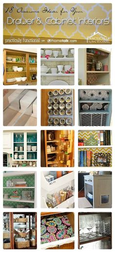 DIY:: 18 Awesome Ideas for Decorating Your Drawer & Cabinet Interiors  ! Each with Separate Tutorials