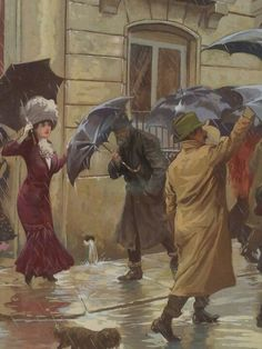 quenalbertini: People under umbrellas Rain Umbrella, Under My Umbrella, Walking In The Rain, Singing In The Rain, I Love Rain, Rain Days, Great Works Of Art, Umbrellas Parasols, Rainy Night