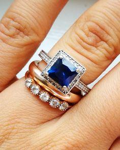 Mixed matching wedding rings