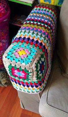 Unconventional crochet creations for kids, grown-ups and the home Crochet Cap, Tunisian Crochet, Sofa Arm Covers, Dinosaur Hat, Funky Decor, Armchair Slipcover, Custom Sofa, Crochet Projects, Crochet Patterns