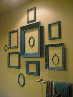 Let the frames be the decoration: no need to fill them up