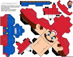 creative fun cubecraft diy 1 15 Cubeecraft Paper Toy Models You Will Want To Make! Super Mario Party, Super Mario Birthday, Mario Birthday Party, Mario Crafts, Paper Mario, Toy Art, Mario And Luigi, Paper Models, Paper Toys