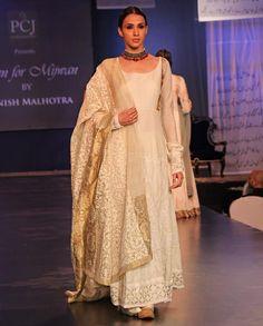 white mijwan manish malhotra dress for girls