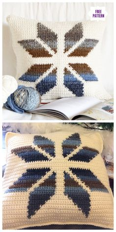 Transcendent Crochet a Solid Granny Square Ideas. Inconceivable Crochet a Solid Granny Square Ideas. Crochet Pillow Patterns Free, Tapestry Crochet Patterns, Christmas Crochet Patterns, Granny Square Crochet Pattern, Crochet Stitches Patterns, Crochet Squares, Crochet Motif, Free Crochet, Afghan Crochet