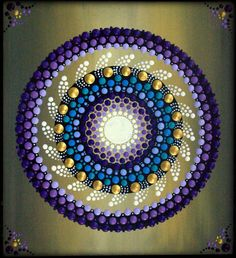 Mandala Painting by Kirsty Russell by ArtbyKirstyRussell on Etsy