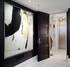 Black doors and huge art work