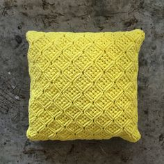Yellow Knitted Cushion, Country Road. #placesandgraces #collection #countryroad #yellow #knit #cushion Bathroom Renovations, Home Renovation, Knitted Cushions, Interior Styling, Country Roads, Colours, Throw Pillows, Yellow, Knitting