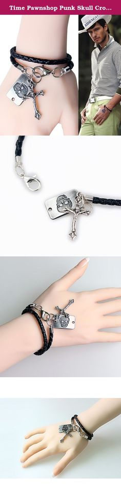 Time Pawnshop Punk Skull Cross Adjustable Charm Unisex Wristband Bracelet. About product Time Pawnshop Punk Skull Cross Adjustable Charm Unisex Wristband Bracelet 1. Color: black 2. Material: leather + alloy 3. Occasion: daily, any occasion About delivery The delivery is usually within 5-15 days, please ignore Estimated Delivery Date. Package Included: 1 x bracelet 1 x gift bag About Time Pawnshop Time Pawnshop is a professional store of fashion jewelry. Wear our fashion jewelry you can...