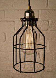 Lampe avec ampoule vintage filament mont e sur une - Suspension ampoule filament ...
