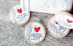 50 Customized Birch Tree Save the Date Invite/Wedding Favor Wood Magnets on Etsy, $85.00 by socorro