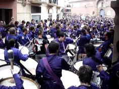 Easter Week Calanda (Teruel). Tambores de Semana Santa. Spain