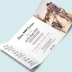 Hochzeitseinladungskarten im Retro-Stil  gestalten & bestellen