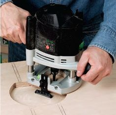 Routing out blank recess for router table