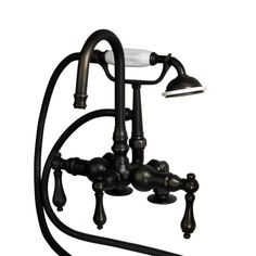 The deck mount faucet gives any bathtub a unique look with its curved spout and metal lever handles. The goes perfectly with any of our Victorian style tubs. The faucet has a 3 inch spread with a 7 reach. The metal lever handles can Metal, Faucet, American Bath Factory, Victorian, Lever Handle, Mounting, Bathtub Faucet, Bronze, Tub
