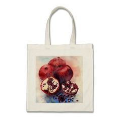 pomegranate budget tote bag