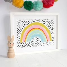 Are you interested in our rainbow print ? With our quirky unisex print you need look no further. Nursery Prints, Nursery Art, Girl Nursery, Rainbow Bedroom, Rainbow Room Kids, Rainbow Nursery Decor, Wal Art, Rainbow Painting, Rainbow Print