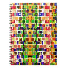 Geometric Abstract Spiral Note Book