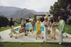 For Sale on - 'Desert House Party' Palm Springs (Slim Aarons Estate Print), C Print by Slim Aarons. Offered by Galerie Prints. Peggy Guggenheim, Marcello Mastroianni, William Eggleston, Rei Kawakubo, Party Photography, Color Photography, Famous Photography, Street Photography, Keith Haring